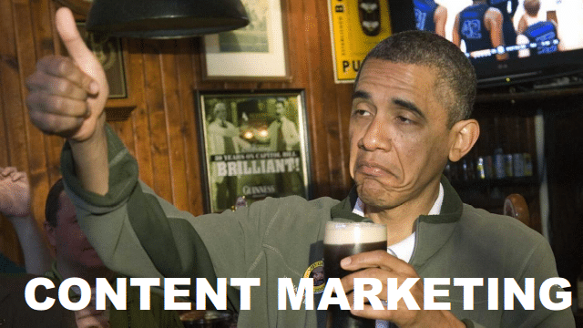 obama content marketing
