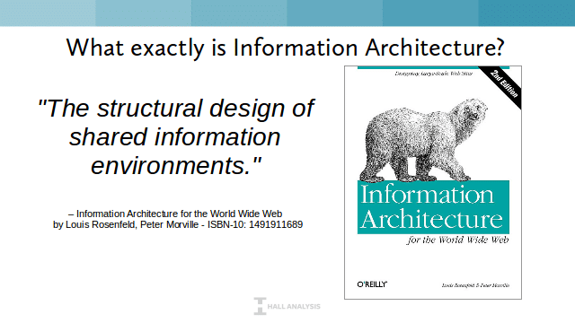 Definition of Information Architecture: